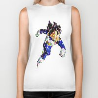 vegeta Biker Tanks featuring vegeta bubbles by codradical