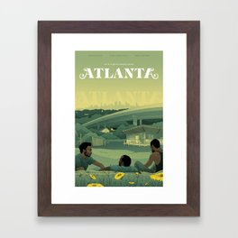 Atlanta Poster Framed Art Print