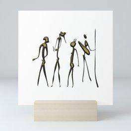 Warriors - hunters Mini Art Print