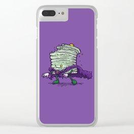 Captain Zombiecake Clear iPhone Case