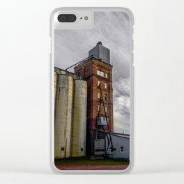 Grain Elevator, Beach, North Dakota Clear iPhone Case