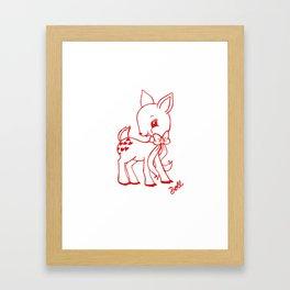 Deer Valentine Framed Art Print