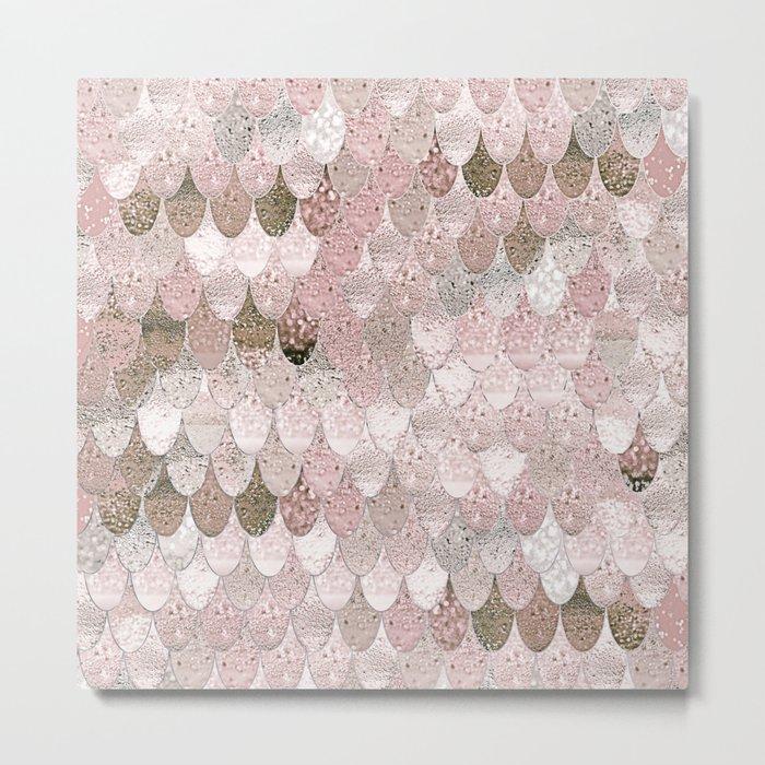 SUMMER MERMAID NUDE ROSEGOLD by Monika Strigel Metal Print