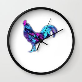 Colorful Cockerel Rooster Wall Clock