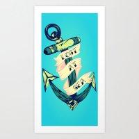 Lost at Sea Anchor Art Print