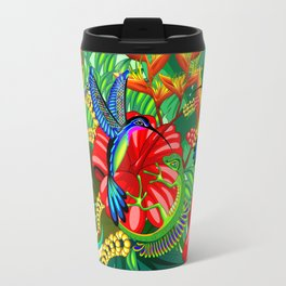 The Lizard, The Hummingbird and The Hibiscus Travel Mug