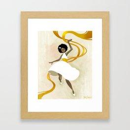 Falling Ribbons Framed Art Print