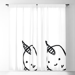 CUTE NARWHAL Blackout Curtain