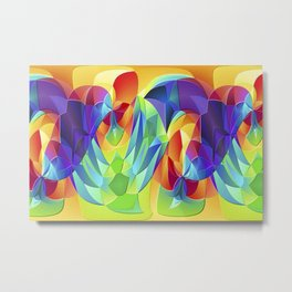 modern art fractal background Metal Print