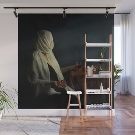 Lady justice with  pomegranate Wall Mural