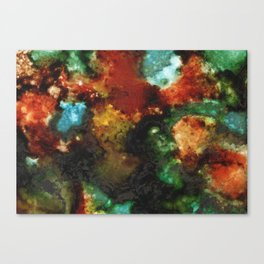 Geode III, Malachite Canvas Print