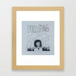 Polluting minds Framed Art Print