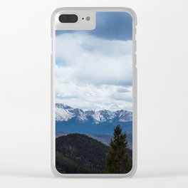 Colorado Springs Mountains Clear iPhone Case