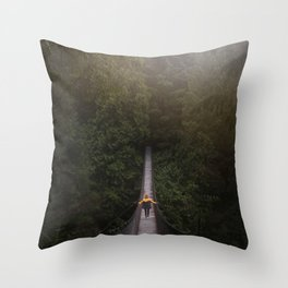 Explore the Forest Throw Pillow