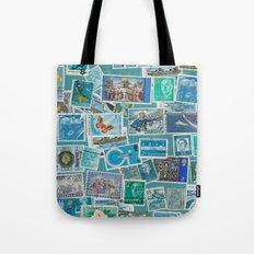 Postage Bleu Tote Bag