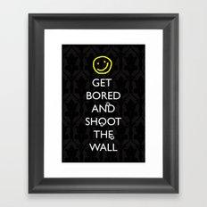 Smiley target Framed Art Print
