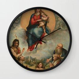 """Raffaello Sanzio da Urbino """"Madonna of Foligno"""", 1512 Wall Clock"""