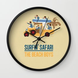 Surfin Safari Wall Clock