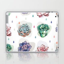 Succulent pattern with drops Laptop & iPad Skin