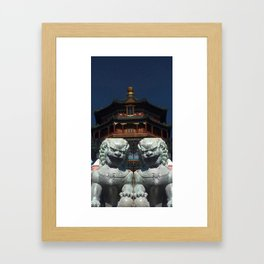 Forbidden City and The Summer Palace Beijing China Framed Art Print
