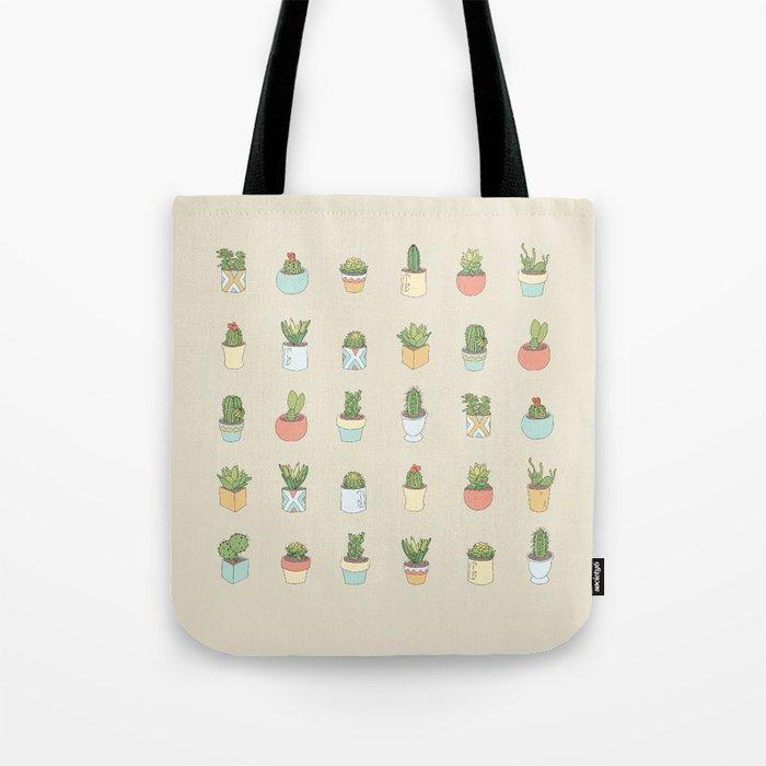 Cute Succulents Tote Bag