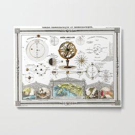 Sphere Armillaire - Astronomical and Cosmographical Chart Metal Print