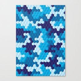 CUBOUFLAGE BLUE Canvas Print