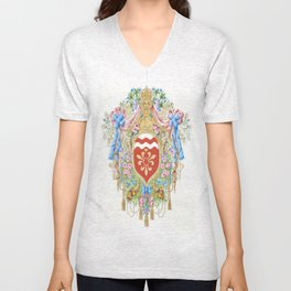 Versailles-style arms of the Chevalier d'Orleans Unisex V-Neck