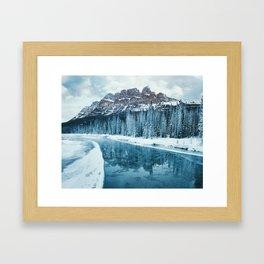 Frosty Morning at Castle Mountain Framed Art Print
