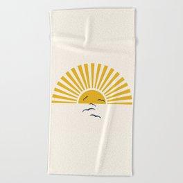 Minimalistic Summer I Beach Towel