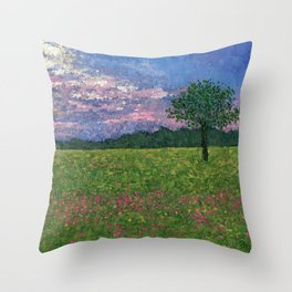 Emergence of Spring Throw Pillow