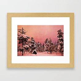Magic of frozen forest Framed Art Print