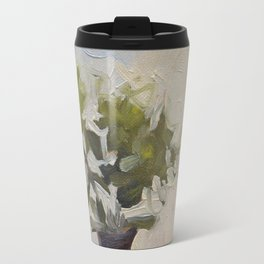 Green Flower Painting Travel Mug