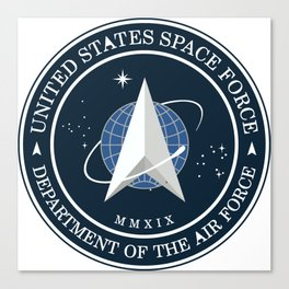 United States Space Force Logo Canvas Print