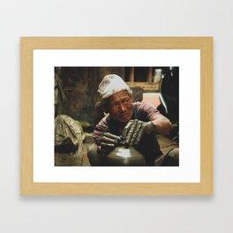 The Locals of Kathmandu City 002 Framed Art Print