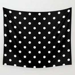 Black & White Polka Dots Wall Tapestry