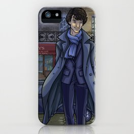 Sherlock fanart iPhone Case