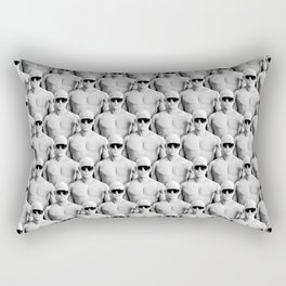 Cool Dudes / 3D render of male figures wearing sunglasses Rectangular Pillow