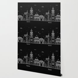Rabat Minimal Nightscape / Skyline Drawing Wallpaper