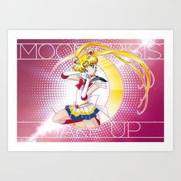 Sailor Moon Super S - Moon Crisis Make Up! Art Print