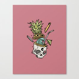 PinaSkullada | Color Canvas Print