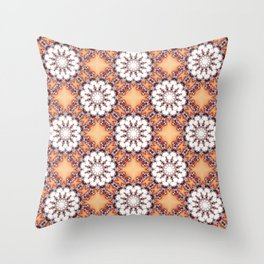 Fractal Chamomile Throw Pillow