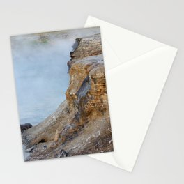 Deep hot spring  Stationery Cards