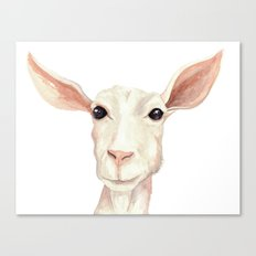 Watercolor Billy Goat Canvas Print
