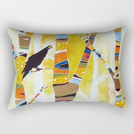 Raven Hanging the Sun Rectangular Pillow