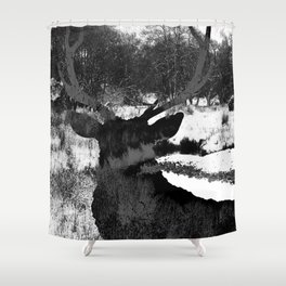 Stag in the Shadows Shower Curtain