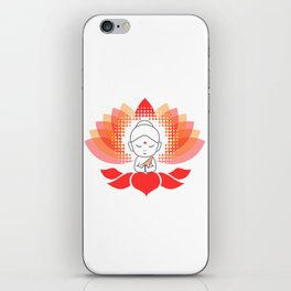 Cute Buddha on a sacred lotus iPhone Skin