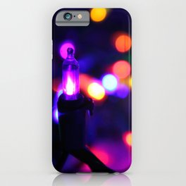 Colorful Christmas Bokeh iPhone Case