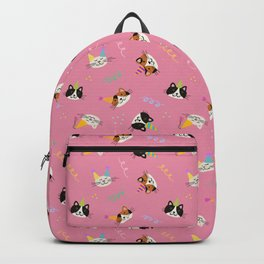 Cat Purr-tay! // Pink Backpack