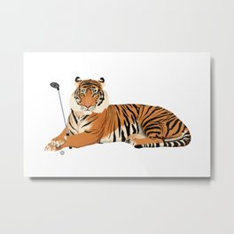 Golf Tiger Metal Print